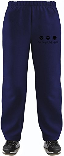 Sex Drugs And Rock'N'Roll Super Soft Kids Lightweight Jog Pants by True Fans Apparel - 80% Organic, Hypoallergenic Cotton & 20% Polyester - Casual & Sports Wear - Perfect Present 7-8 years
