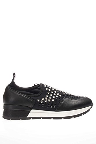 37856 NERO.Sneaker slip on strass.Nero.38