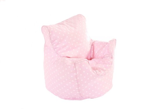 Toddler Size Pink Spots Bean Seat With Beans