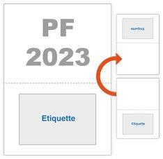 Etiquette intégrée - 1000 feuilles étiquette expedition colis postaux