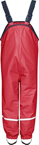 Playshoes Fleece-Regen-Latzhose 408622 Unisex - Kinder Hosen/Lang Rot 116