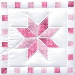 Bulk Buy: Jack Dempsey Stamped White Quilt Blocks 18