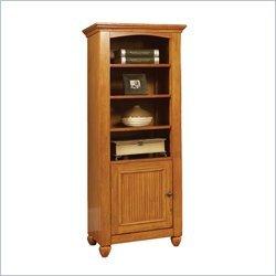 Home Styles Furniture Ponderosa 6 Shelf Wood Audio Rack,Bookcase in Pine