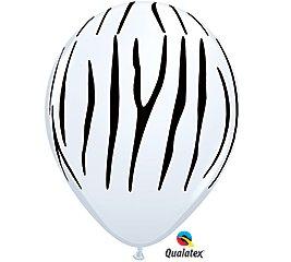 Zebra Stripes Black White 11' Latex Jungle Animal Zoo Safari Birthday Party (12)