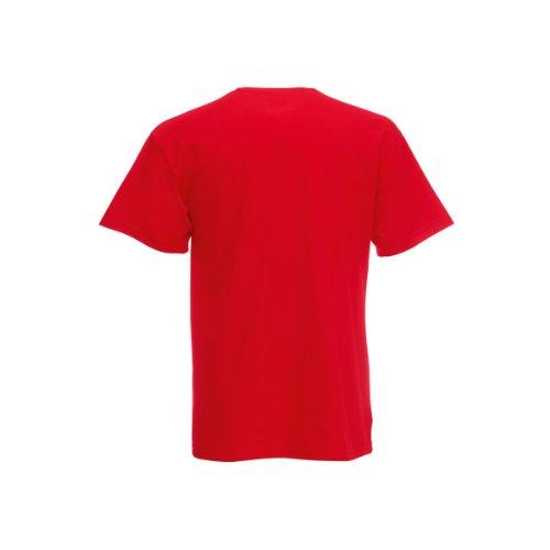 Fruit Of The Loom - Maglietta 100% Cotone - Bambino (5-6 anni) (Rosso)