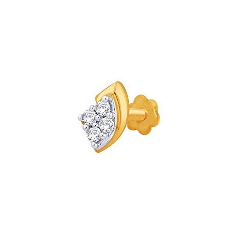 Sangini Sangini 18K Yellow Gold Nosepin For Women (Multicolor)