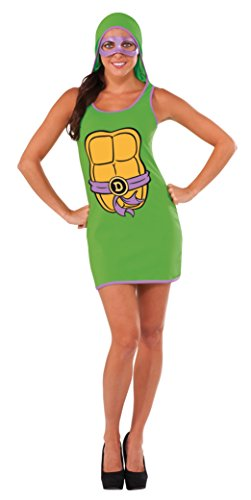 Rubie's Costume Co Women's TMNT Classic Costume Donatello Hooded Tank Dress