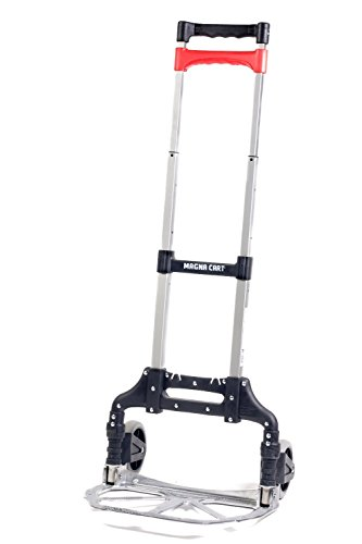 Magna Cart Personal 150 lb Capacity Aluminum Folding Hand Truck (Silver) (Protech Tool Box compare prices)