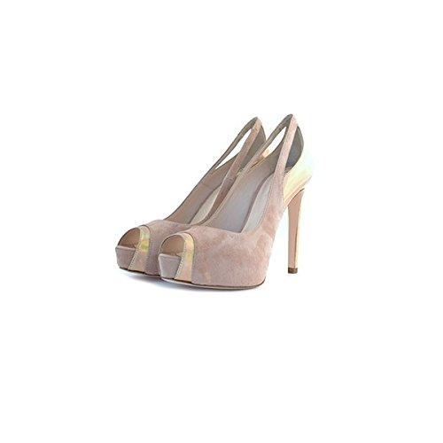 Decolte', sandali Tiffi, in camoscio e vernice rosa, taglia: 35