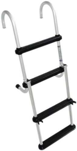 Buy Low Price Windline FDL-4B Marine Removable Folding Pontoon Boat Ladder with 4 Plastic Steps (FDL-4B)