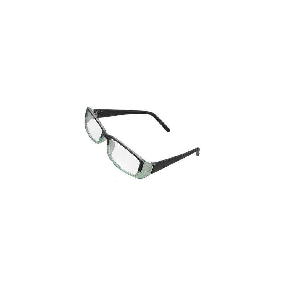 cbfe2ee649 Como Plastic Arm Black Green Full Frame Clear Lens Glasses for Ladies