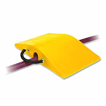 "Super-Cross COP2200-3 Polyurethane Lightweight Utility Crossover Cable Protector, 3"" Tunnel Diameter, Yellow, 18"" Length, 30"" Width, 5"" Height"