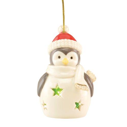 Lenox Pierced Lit Penguin Ornament