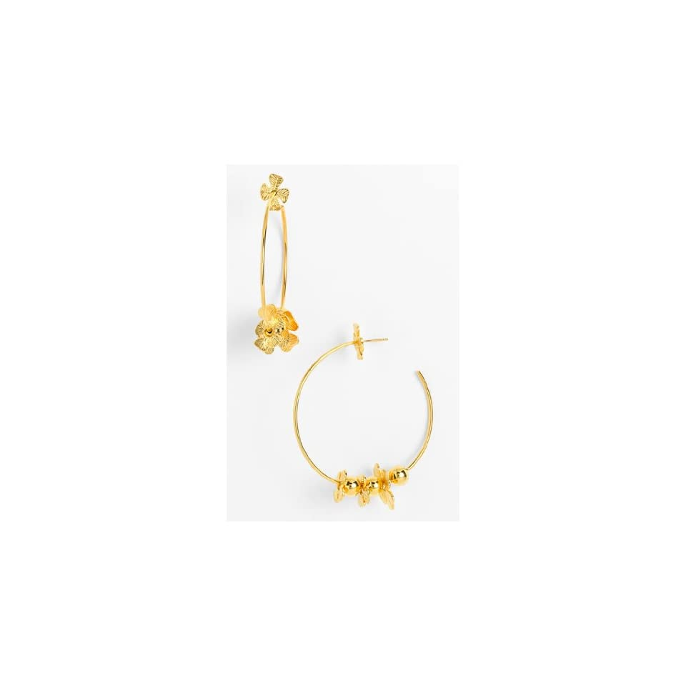 69a4335b1 Tory Burch Hibisicus Hoop Earrings Jewelry on PopScreen