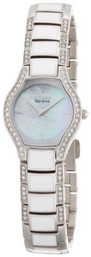 Citizen Women's EW9870-72D Eco-Drive Normandie White Resin Watchand Bracelet Set
