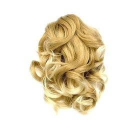 SHF 60023 Short Claw Clip Spiral Ponytail - Blonde Mix