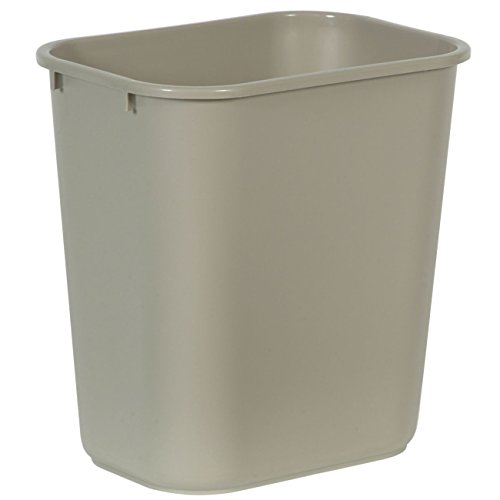 rubbermaid commercial plastic 7 gallon trash can beige by rubbermaid