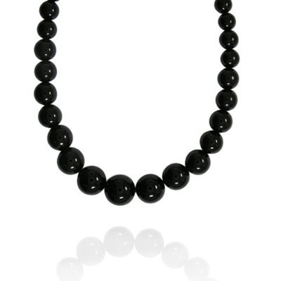 6 MM Black Onyx Bead Necklace 16