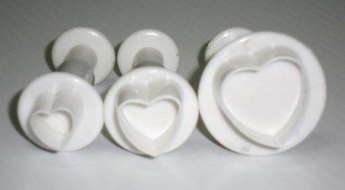 NY Cake Heart Plunger, Set of 3