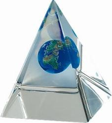 Earth Marble in Pyramid