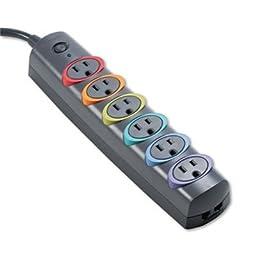 KMW62146 - Kensington SmartSockets Color-Coded Strip Surge Protector