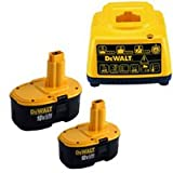DEWALT DE9503-2 18V 2.6Ah NiMh Batteries Plus DE9116 Charger