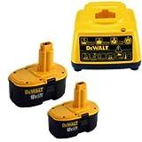 DEWALT DE9503-2 18V 2.6Ah NiMh Batteries Plus DE9116 Charger