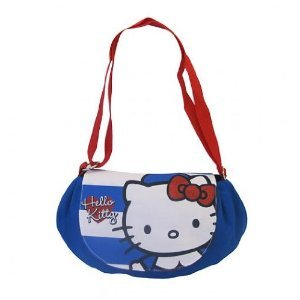 Hello Kitty Paris Girls Mini Slouch Travel Shoulder Hand Luggage Flight Bag  by BLUE PRINT