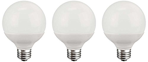 TCP 40 Watt Equivalent 3-pack, LED G25 Globe Light Bulbs, Non-dimmable, Soft White, Energy Star RLG255W27KND3 (Tcp Led Bulbs compare prices)