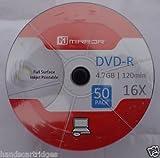 Mirror DVD-R 16X Full Face Ink Jet Printable (50 Discs)