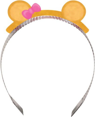 Creative Converting Bears First Birthday Party Headbands, Pink, 8-Count - 1