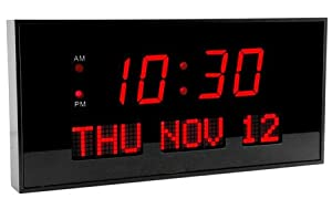 Super Large LED Calendar Clock for Desk or Wall LED Digital Wall Clock