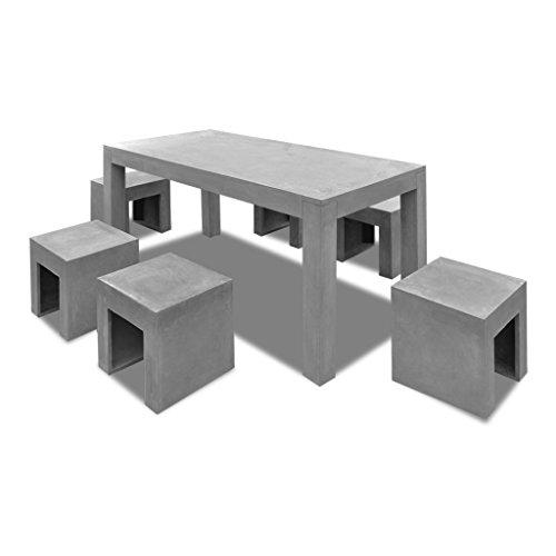 Anself-Tischgruppe-Sitzgruppe-aus-Beton-Betontisch-mit-6-Sthle