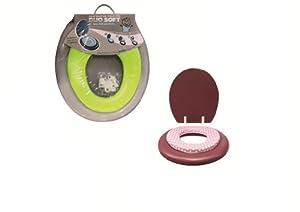 ABATTANT WC 2 EN 1 ADULTE ET ENFANT - ROSE A POIS - SB10939