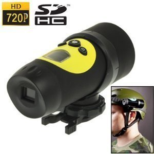 AT18A High Definition Waterproof Actioncam HD 720P Sport Helmet Action Video Camera DVR, AVI Video Format, Supports Upto 32GB SDHC Cards Ideal For Holidays, BMX, Skiing, Snowboarding, Rock-Climbing, Paintball, Skydiving, Swimming, ATV, Motocross, Horse riding etc