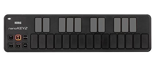Korg nanoKEY2 Slim-Line USB Keyboard, Black