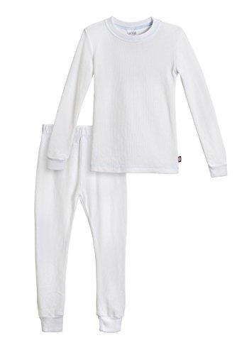 City Threads Baby Boys Thermal Underwear Set Perfect for Sensitive Skin SPD Sensory Friendly, White- 9/12M