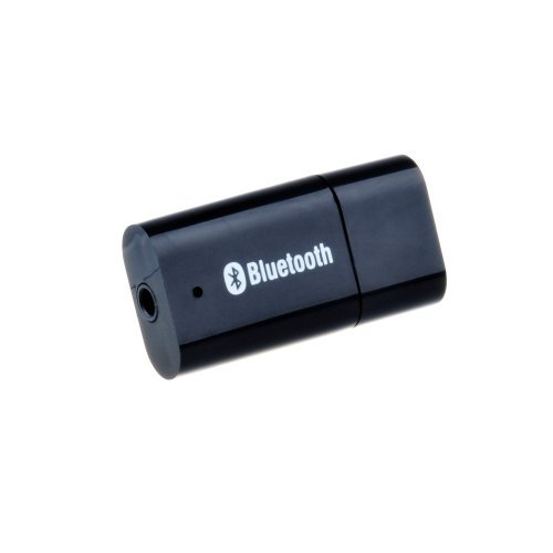 Victsing Usb Bluetooth 3.5Mm Stereo Audio Music Receiver Adapter And Car Charger Adapter For Speaker Iphone Mp3 (Black)