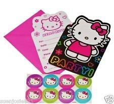 Hello Kitty 'Neon Tween' Invitations w/ Envelopes (8ct)
