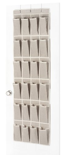 Whitmor 6082-13 Natural Linen Soft Storage Over-the-Door Shoe Organizer