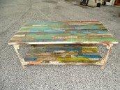int. d'ailleurs - Table low industrial teak recyclé (PM) - PAL295