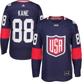 Men's USA Hockey Patrick Kane adidas Navy 2016 World Cup of Hockey Premier Player Jersey XL