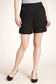 Pure Cotton Turn Up Shorts [T54-7404-S]