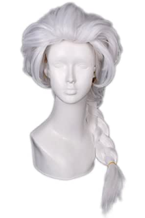 Lemail Wig 28inch Snow Cartoon Princess long white Costume Hair Full Wigs