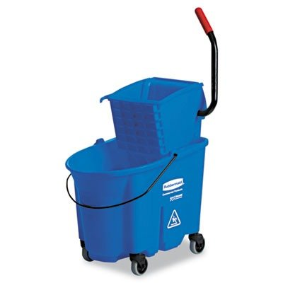 RCP758888BLU - Rubbermaid WaveBrake Side-Press Wringer/Bucket Combo (Side Press Bucket Wringer compare prices)