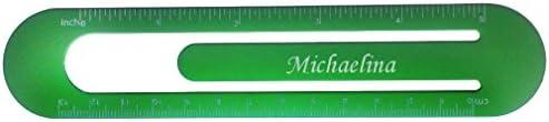 Bookmark  ruler with engraved name Michaelina first namesurnamenickname