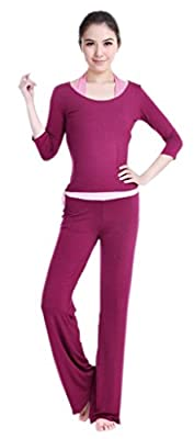 Lukis Set Damen Fitness Yoga Bekleidung Tops Hose Shirt