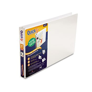 3 Pack Quick Fit Ledger D-Ring Binder, 1 Capacity, 11 x 17, White by STW mixed ring pack 10pcs