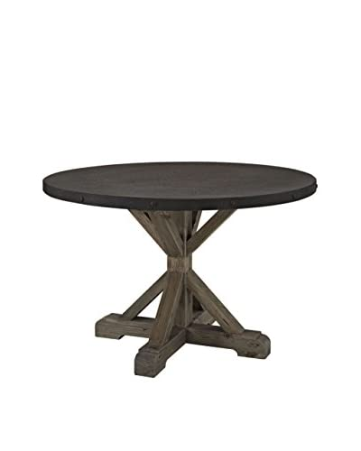 LexMod Stitch Wood Top Dining Table, Brown