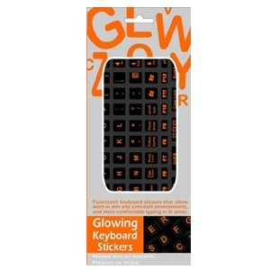 Funkeyboard Orange Glowing StickersB001D12NPU : image